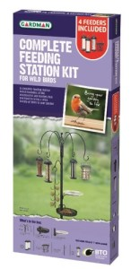 Gardman Complete Feeding Station Kit with 4 Feeders