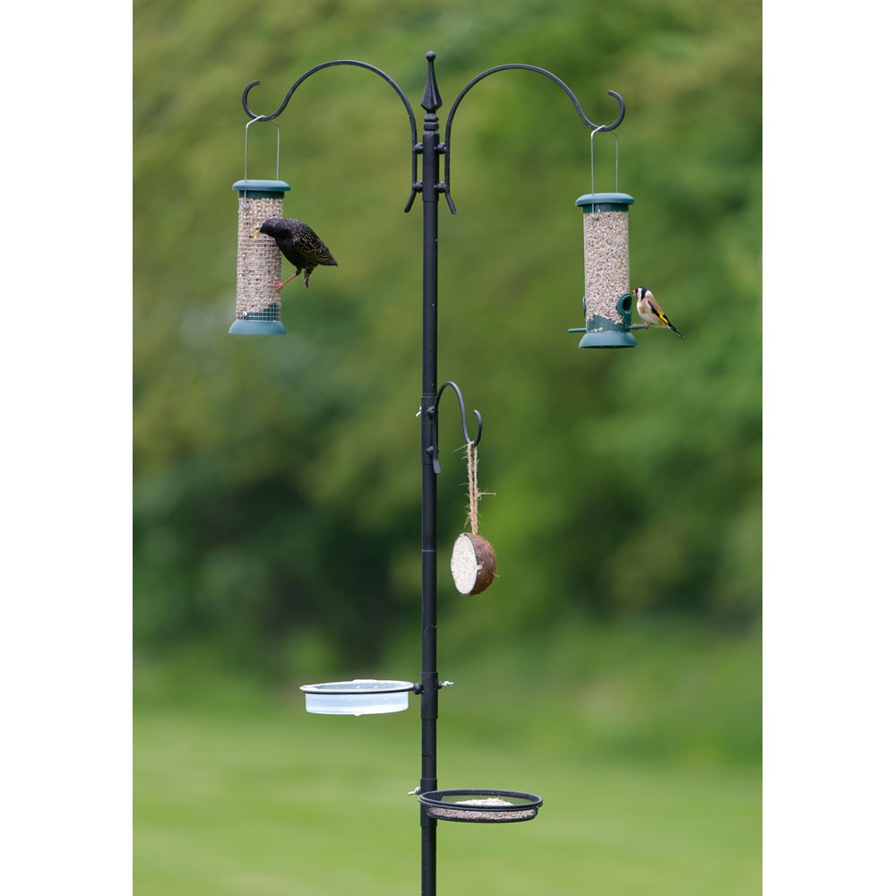 feeding poppy for chickenhouses stations garden duty way bird feeder hanging poles feeders forge view heavy pole