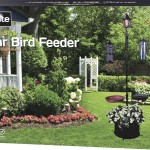 Bird Feeding Station with Solar Light, Bird Feeder & Planter